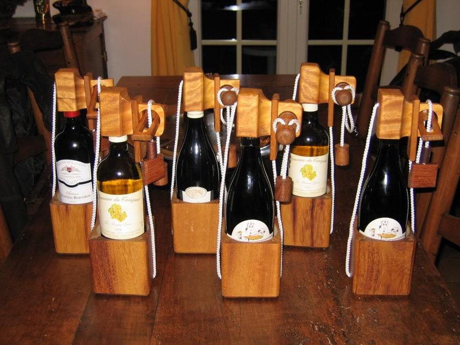 Casse-tête bouteille en iroko