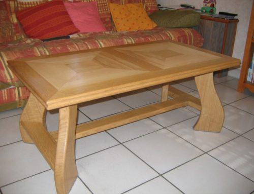Table basse en chêne et frêne